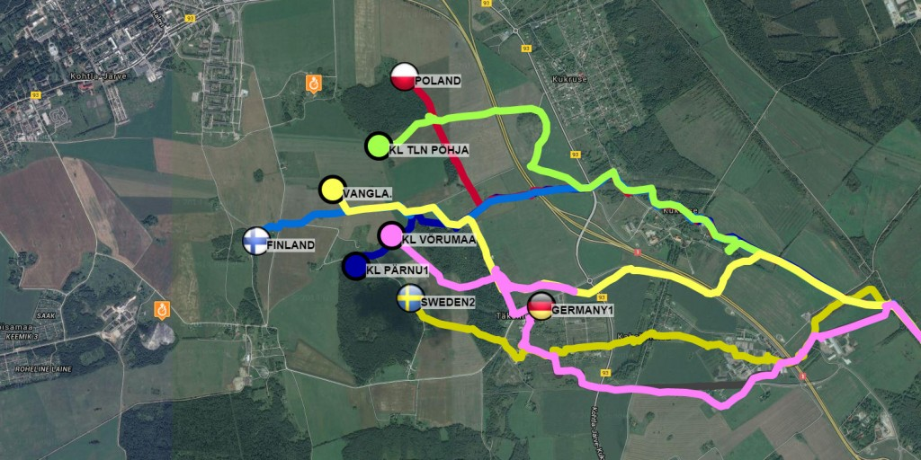 Military patrol competition GPS tracker