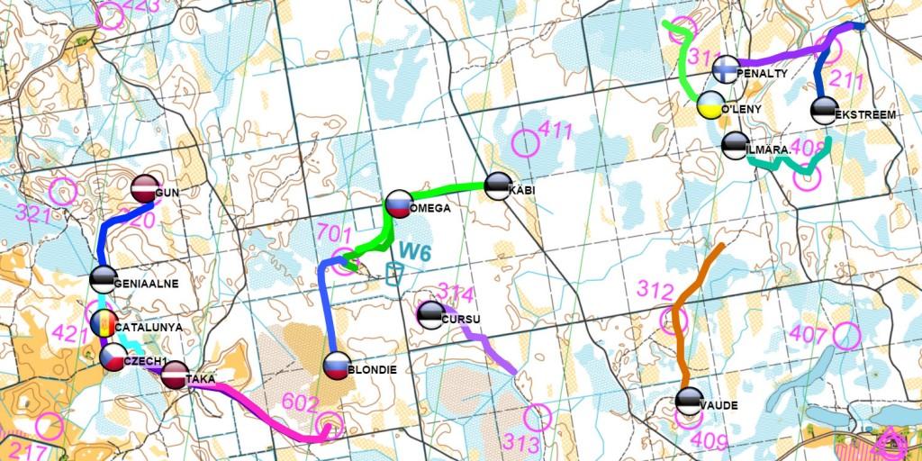 Rogaining 24h GPS tracking