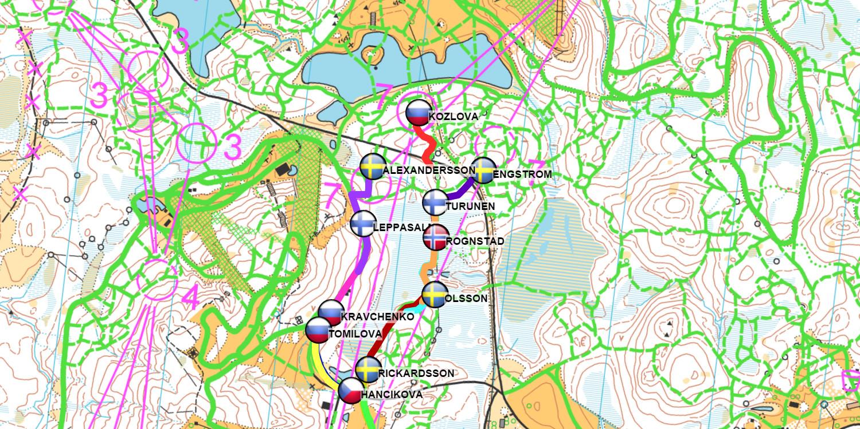 Ski Orienteering real time GPS tracking