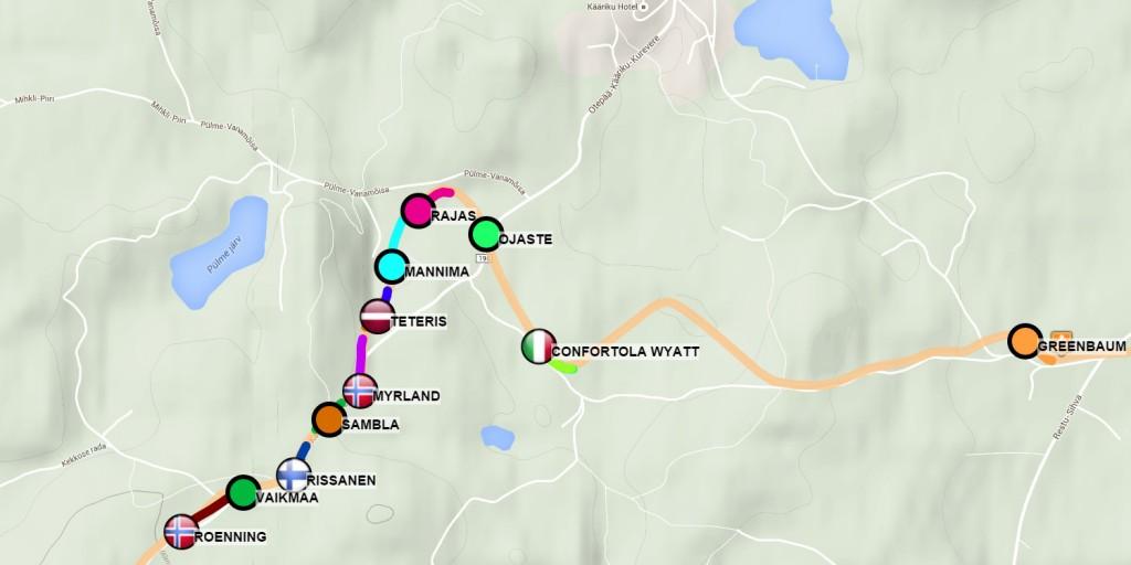 Tartu XC skiing marathon GPS tracking