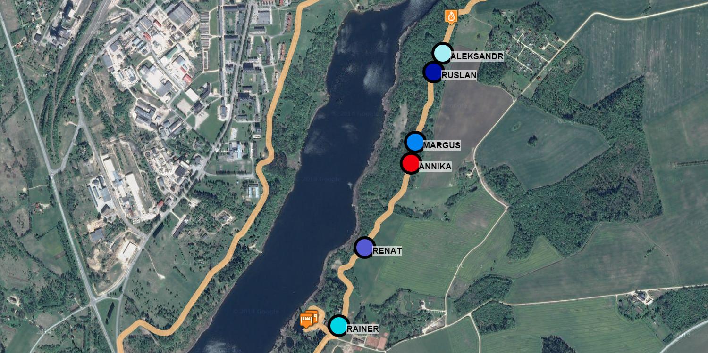 Swimming, cycling, running GPS tracking
